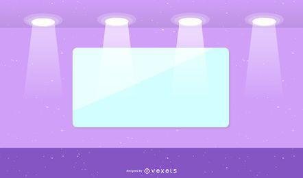 Vitrine de vidro para 04 vector