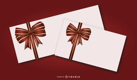 Tarjeta de cinta roja 02 Vector