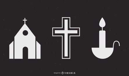 Vetor de tema religioso