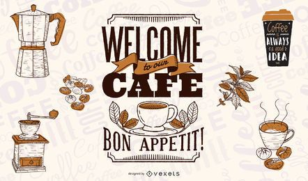 Coffee Theme Vector 3