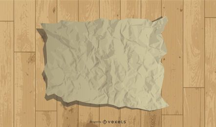 Old Wrinkled Paper Sheet Design