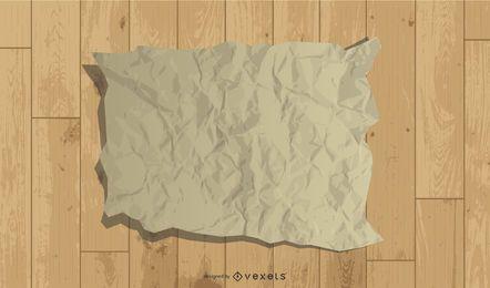 Vektoraltes Papier und Holz