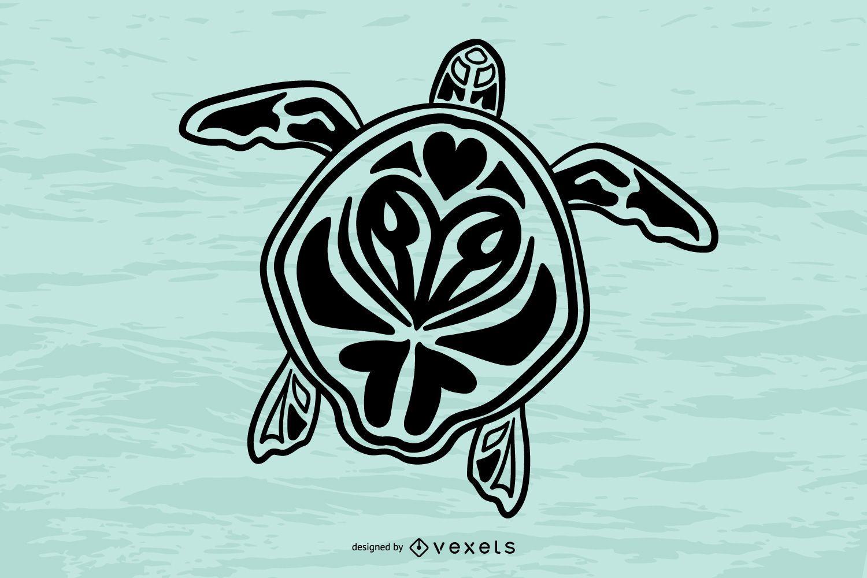 Vector de tótem de tortuga 1