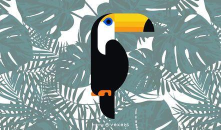 Toucan bird illustration design