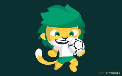 Vetor do mascote da Copa do Mundo da África do Sul 2010