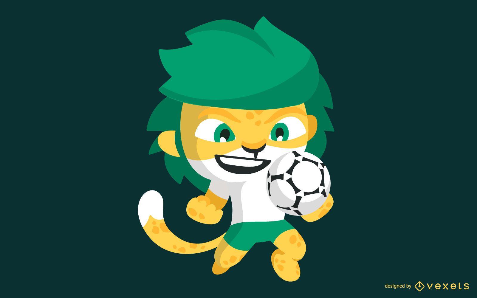 Vector de mascota de la Copa Mundial de Sudáfrica 2010