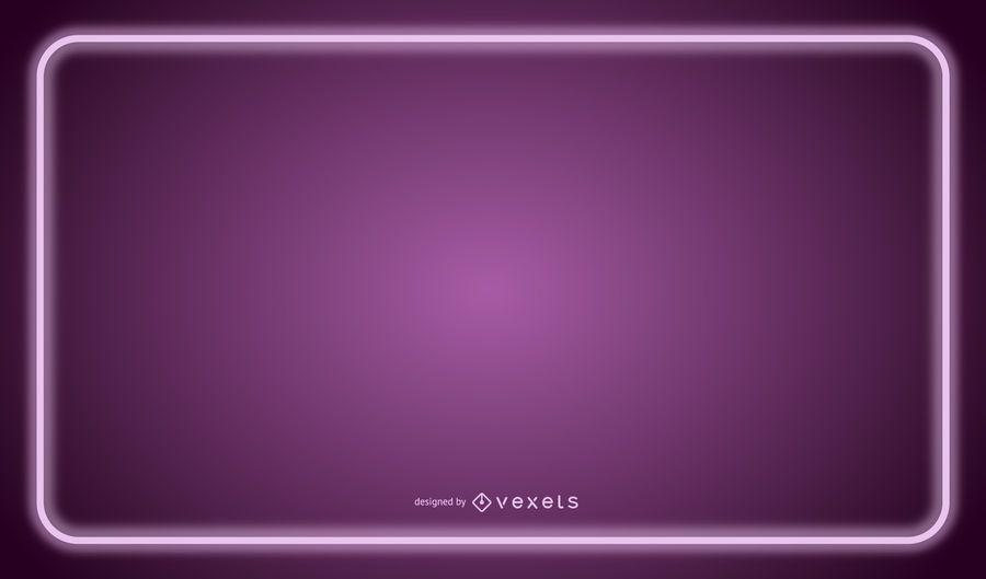 Purple Neon Line Frame