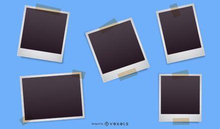Polaroid foto vetor 2