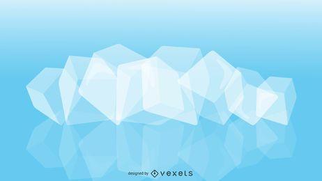 Vector de cubo de hielo