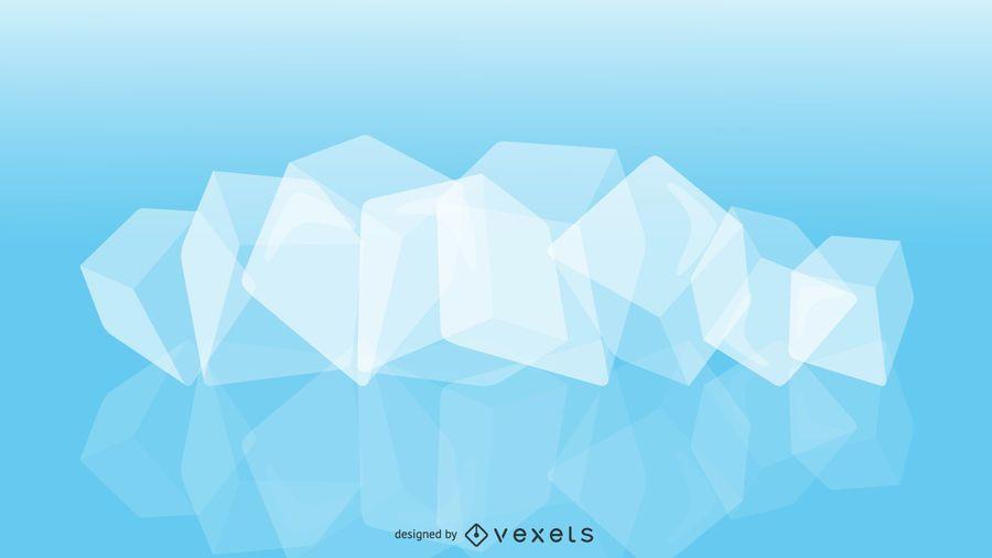 Vetor de cubo de gelo