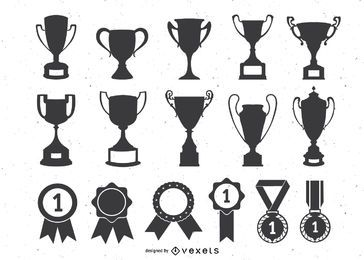 Trofeos Medallas Vector