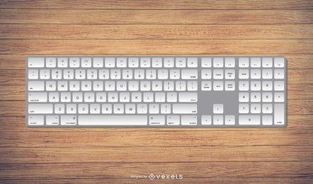 Ilustración de teclado estilo Mac realista