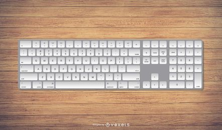 Realistic Mac Style Keyboard Illustration