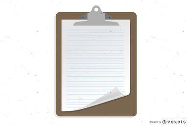 Placa de registro de vetor