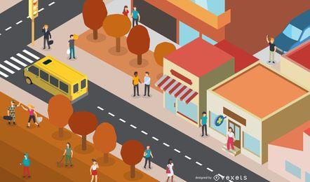 Ciudad de otoño