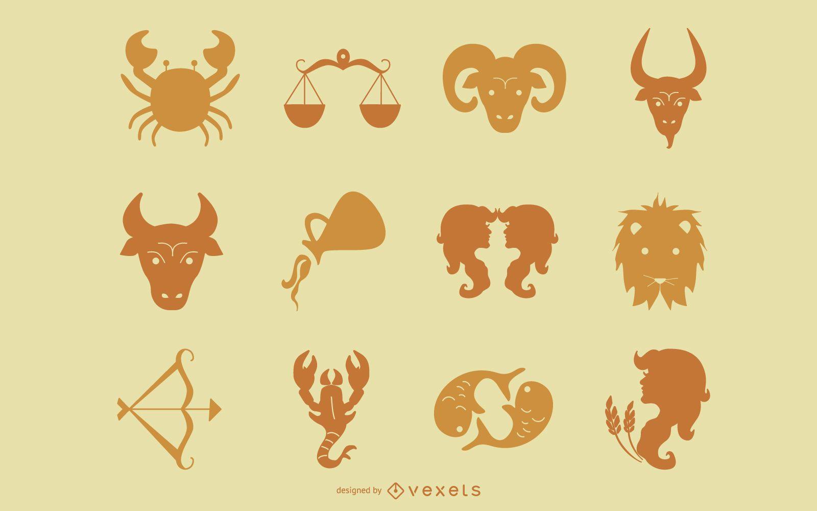 Colección de signos del zodiaco horóscopo