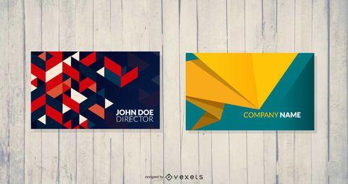 Múltiples plantillas de tarjetas de visita
