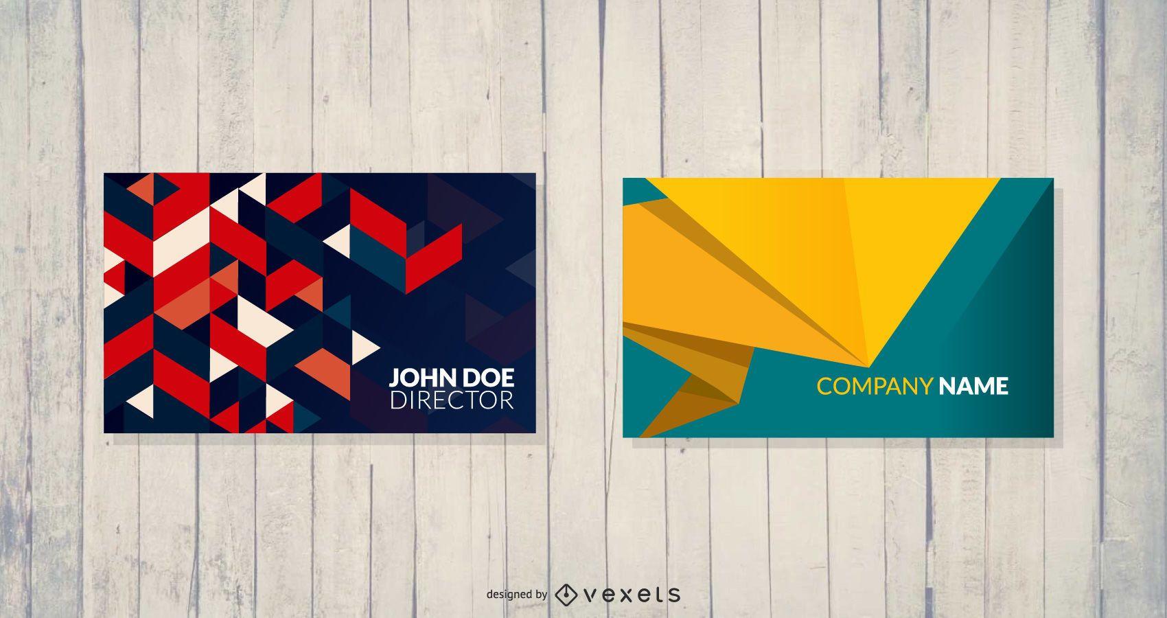 Plantillas de tarjetas de visita geométricas