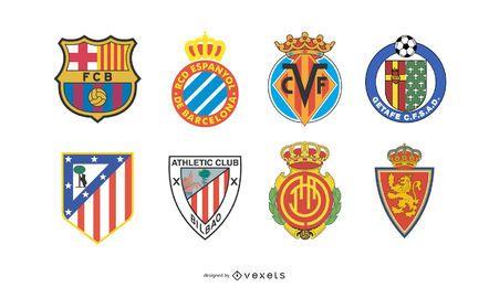 Logos der spanischen Fußballmannschaft