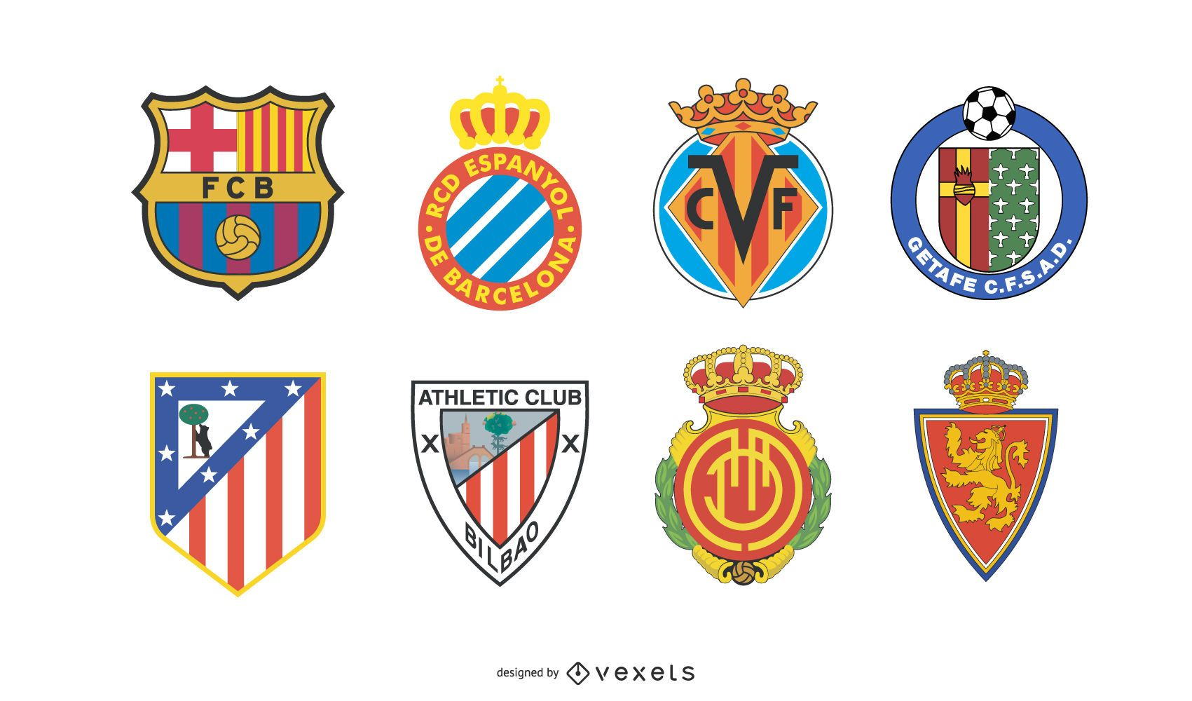 Logos der spanischen Fu?ballmannschaft