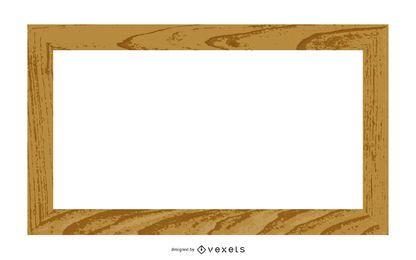Clip Art de borde de marco de madera 3