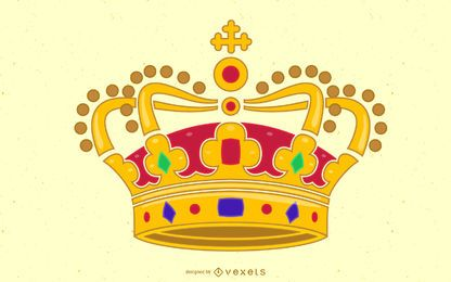Colorful King Crown Design