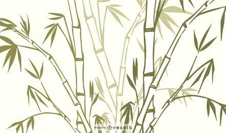 Vetor de planta de grama de bambu