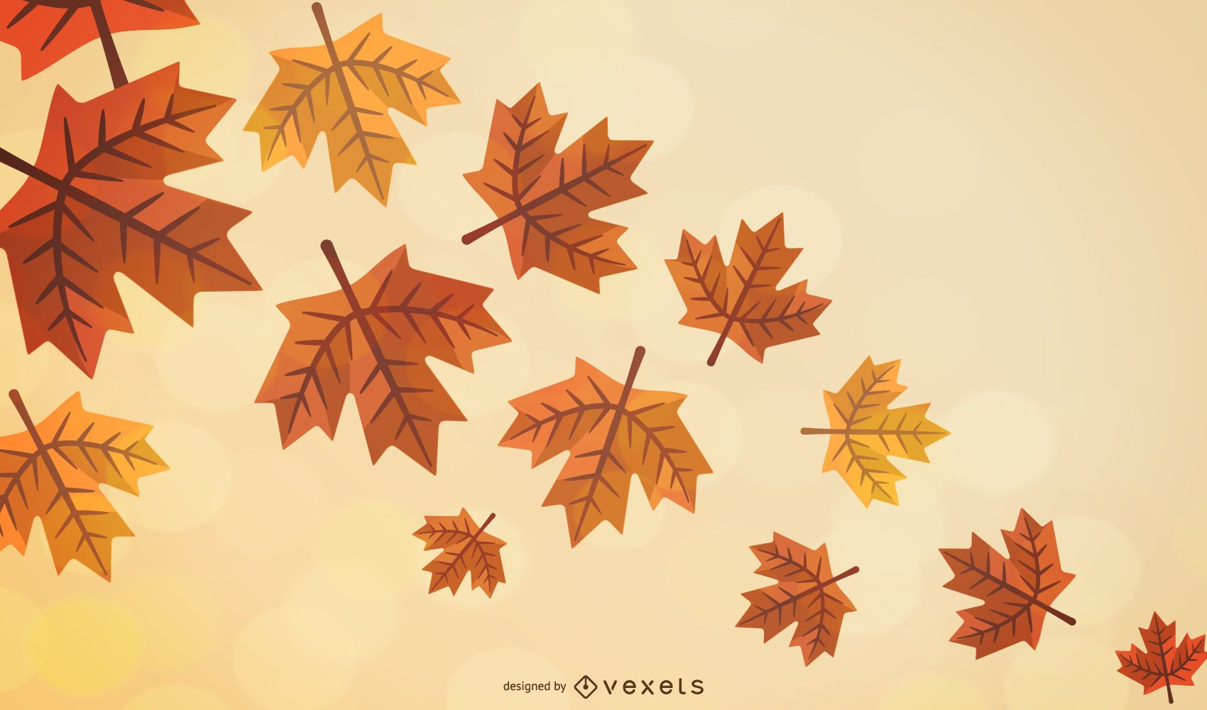 Autumn Leaves Flow Vector