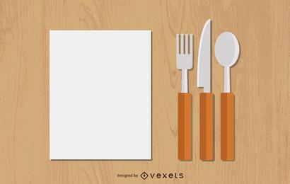 Vector de plantilla de menú de restaurante