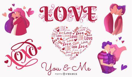 28 amor tema vector
