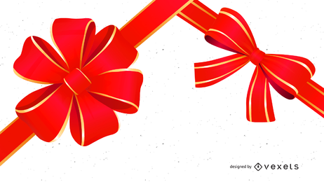 Beautiful Ribbon Bow 03 Vector