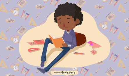 Vetor de ilustrador de crianças em idade escolar