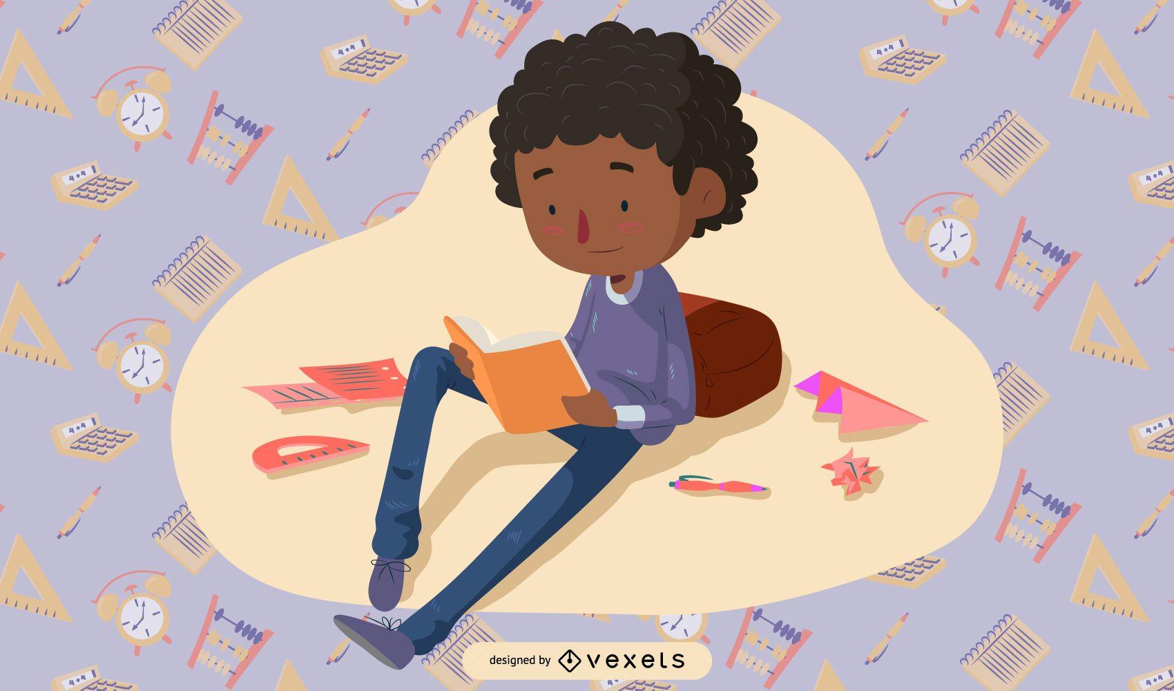 School Children Illustrator Vector