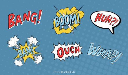 Comic Elements Of Vector Used To