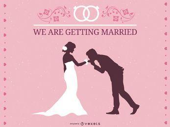 Vetor de tema de casamento