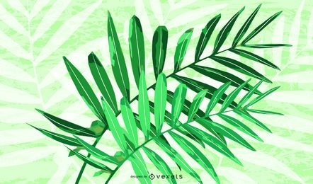 Green Rattan Plant Vector