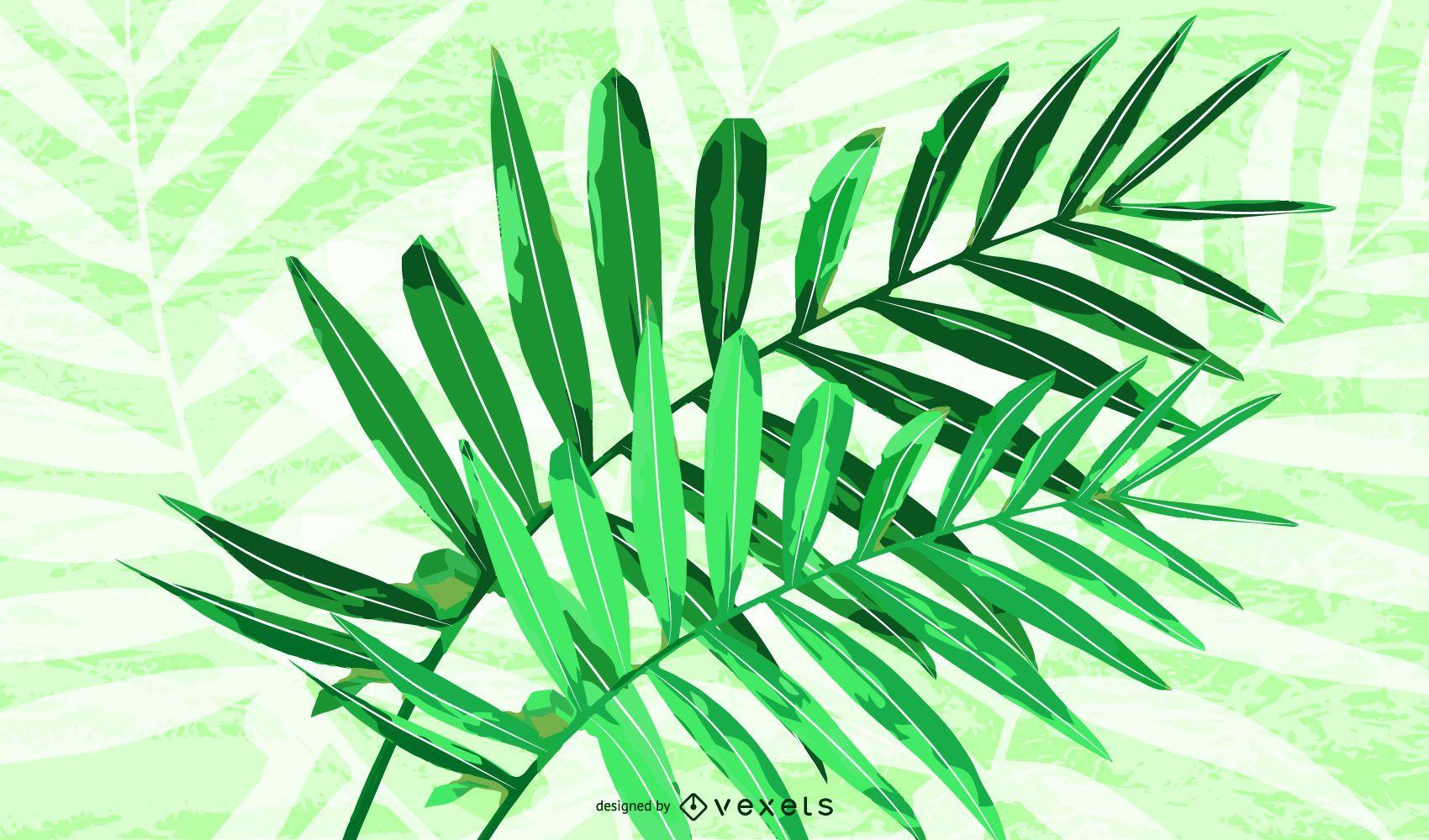Vector de planta de ratán verde
