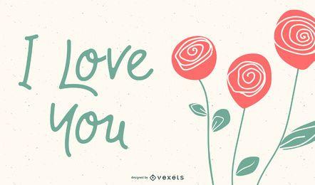 Vector de tarjetas de felicitación de rosas románticas