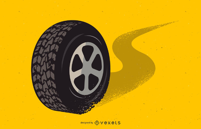 Neumático vector