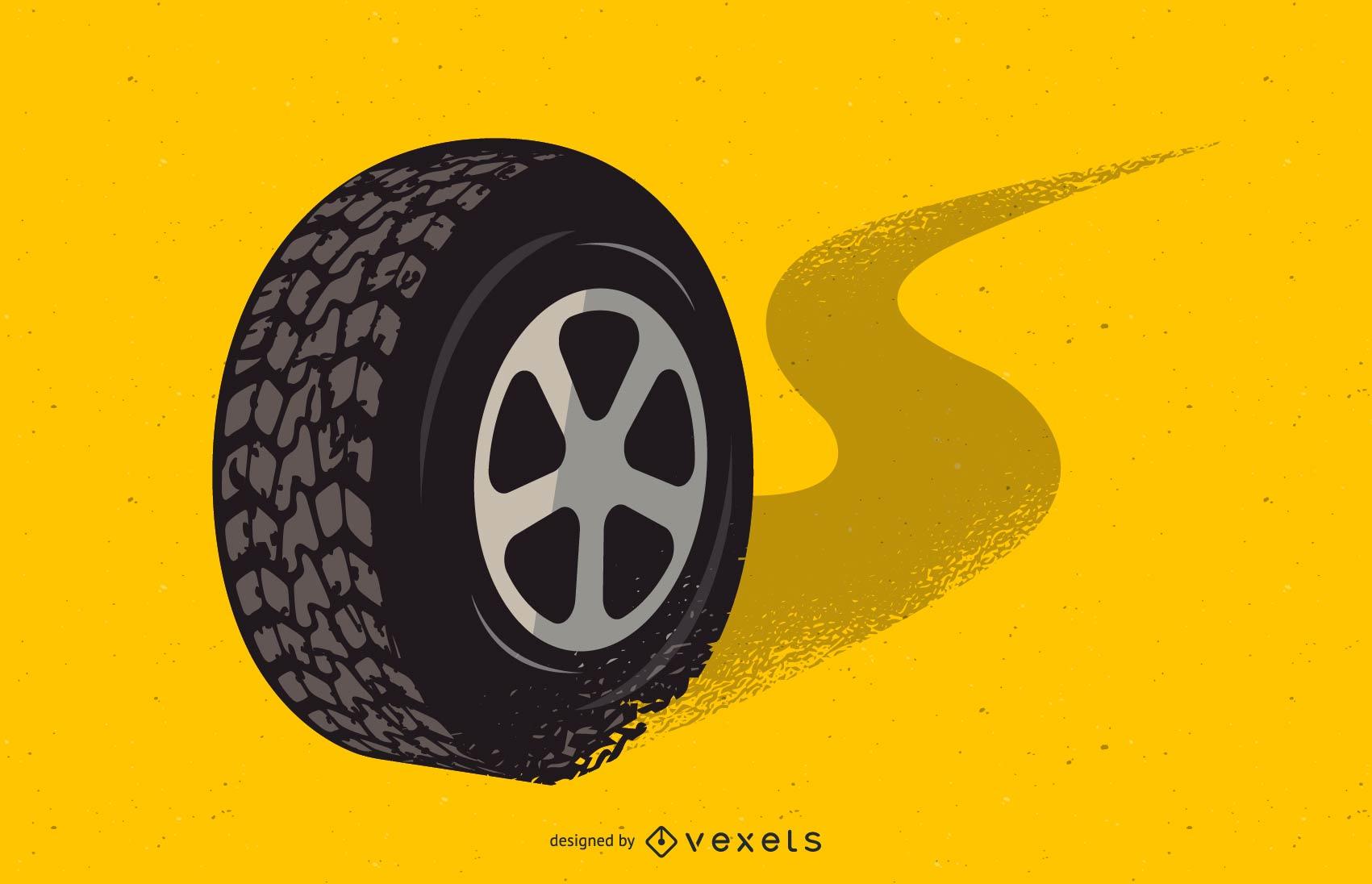 Vector de neumáticos