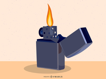 Classic Lighter Vector