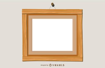 Marco de madera vector
