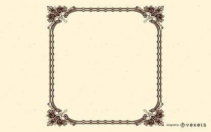 Moldura vertical ornamentada