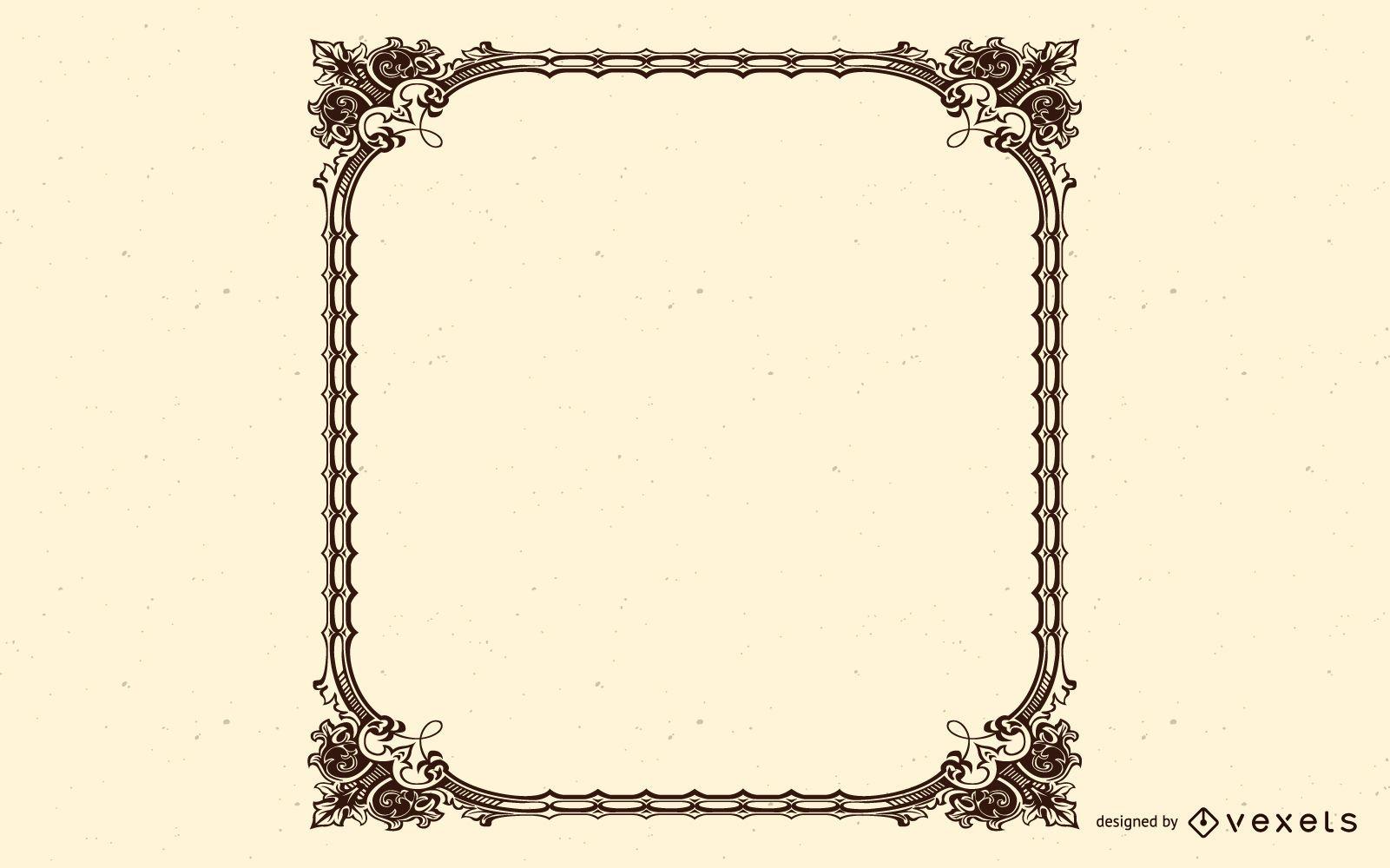 Ornamental Square Vintage Frame Design