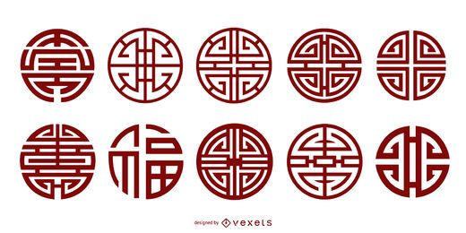 Chinesische klassische Tradition des elf Vektors