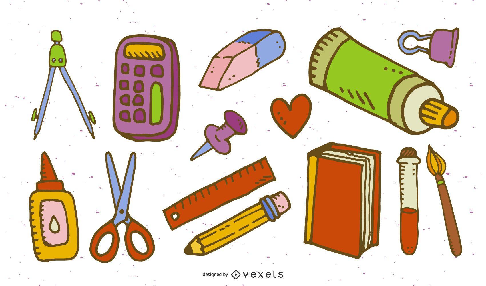 School Supplies 02 Vector