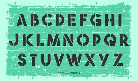 Alfabeto de estêncil de vetor