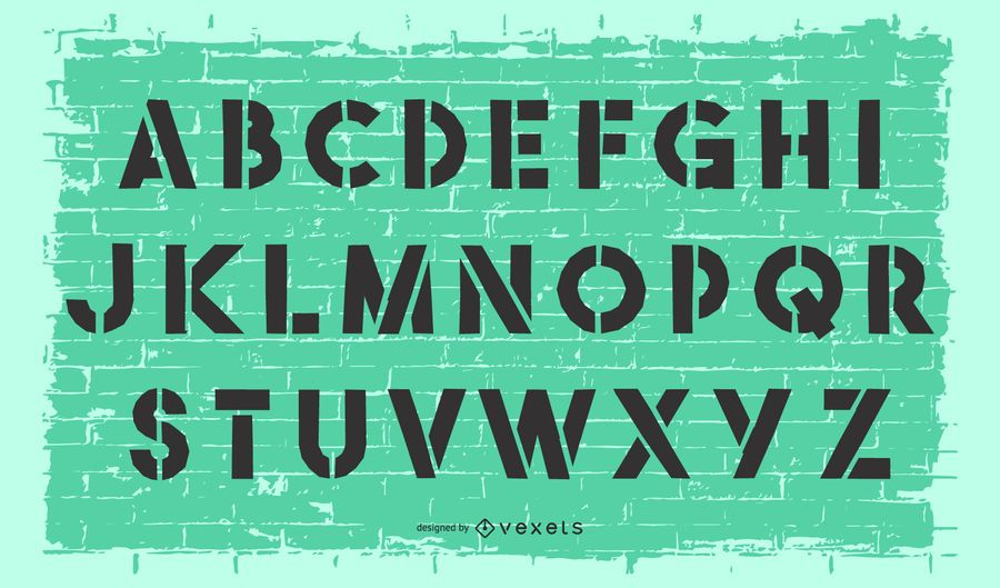 Vector Stencil Alphabet