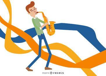Ex-saxofonista vector