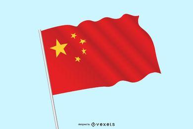 Vetor da bandeira nacional chinesa